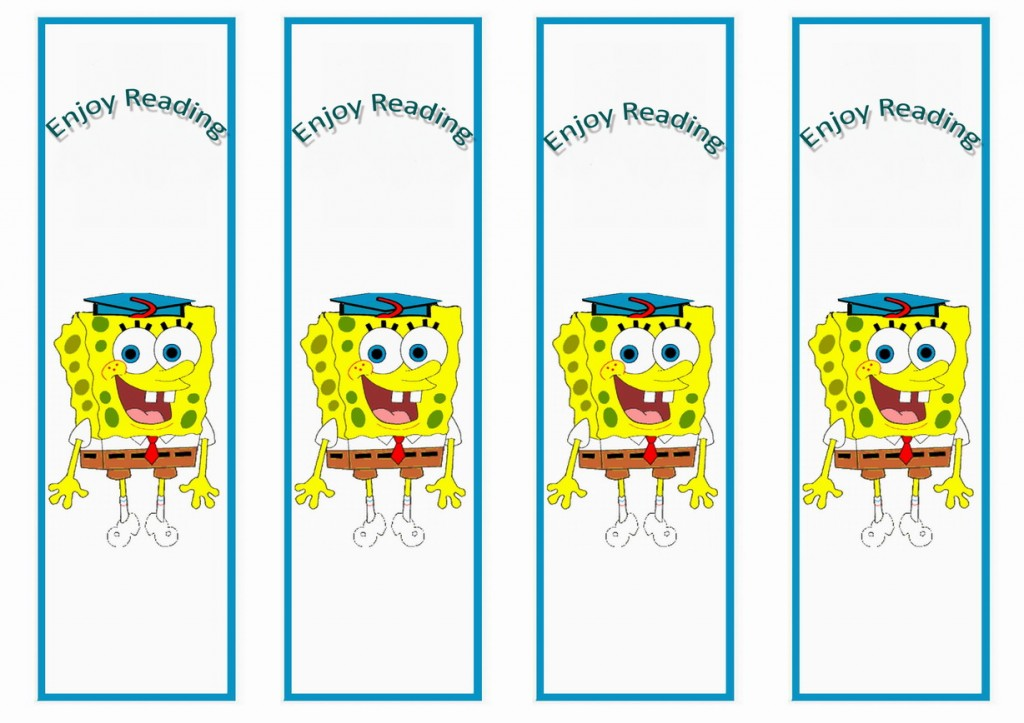 Spongebob Bookmarks Birthday