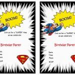 Superman Birthday Invitations