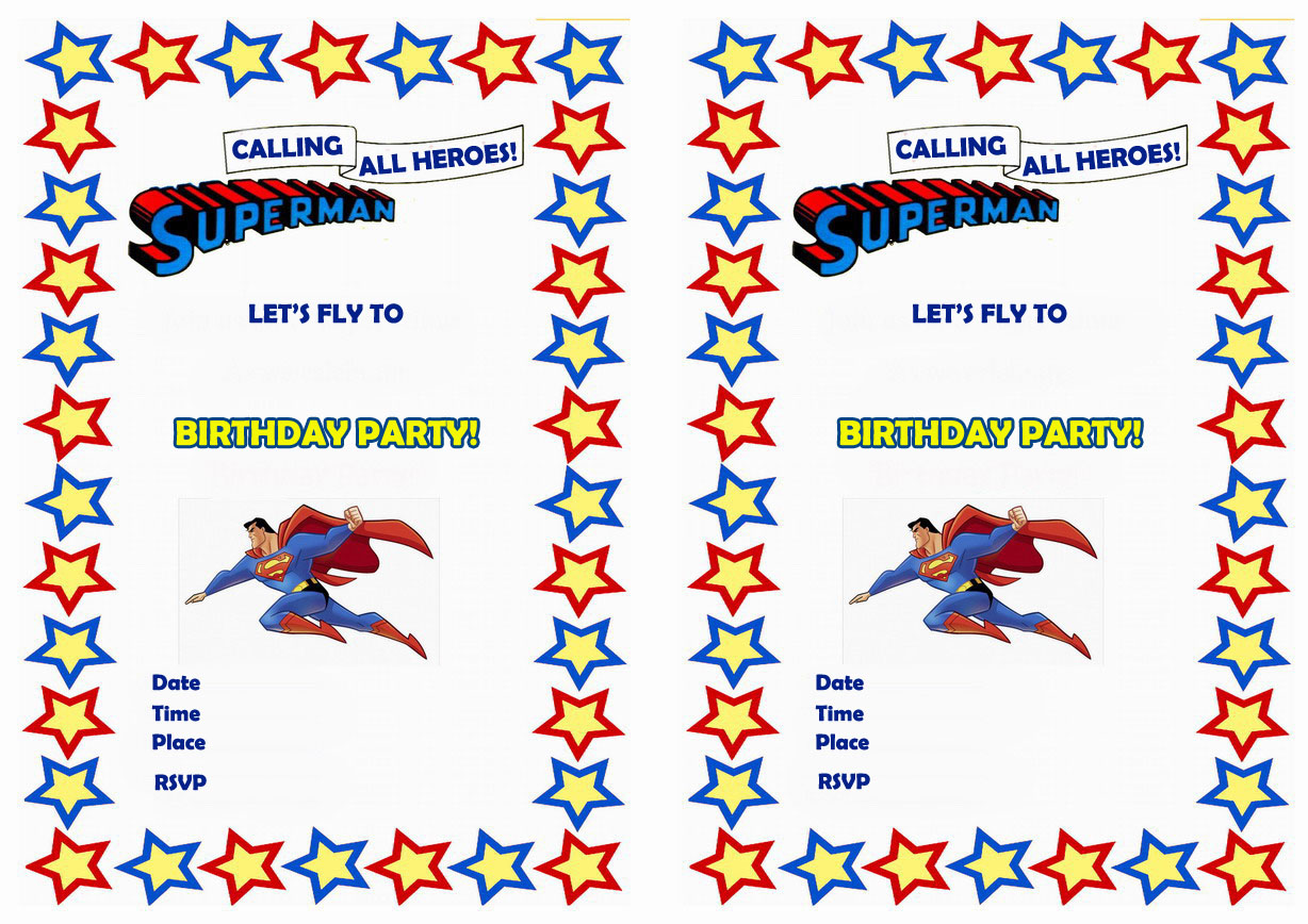 superman birthday invitations birthday printable superman birthday printable invitations click image below to enlarge and print