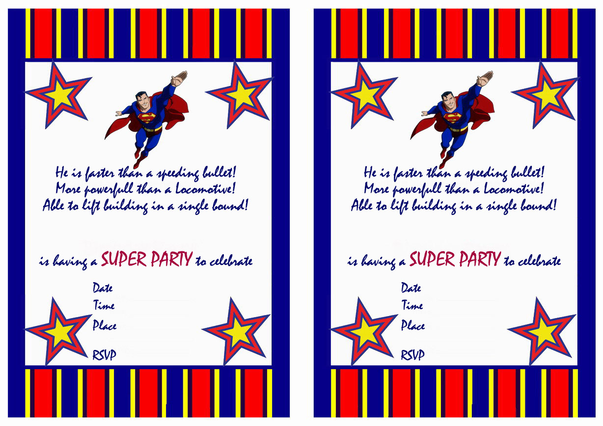 superman birthday invitations birthday printable superman birthday invitations