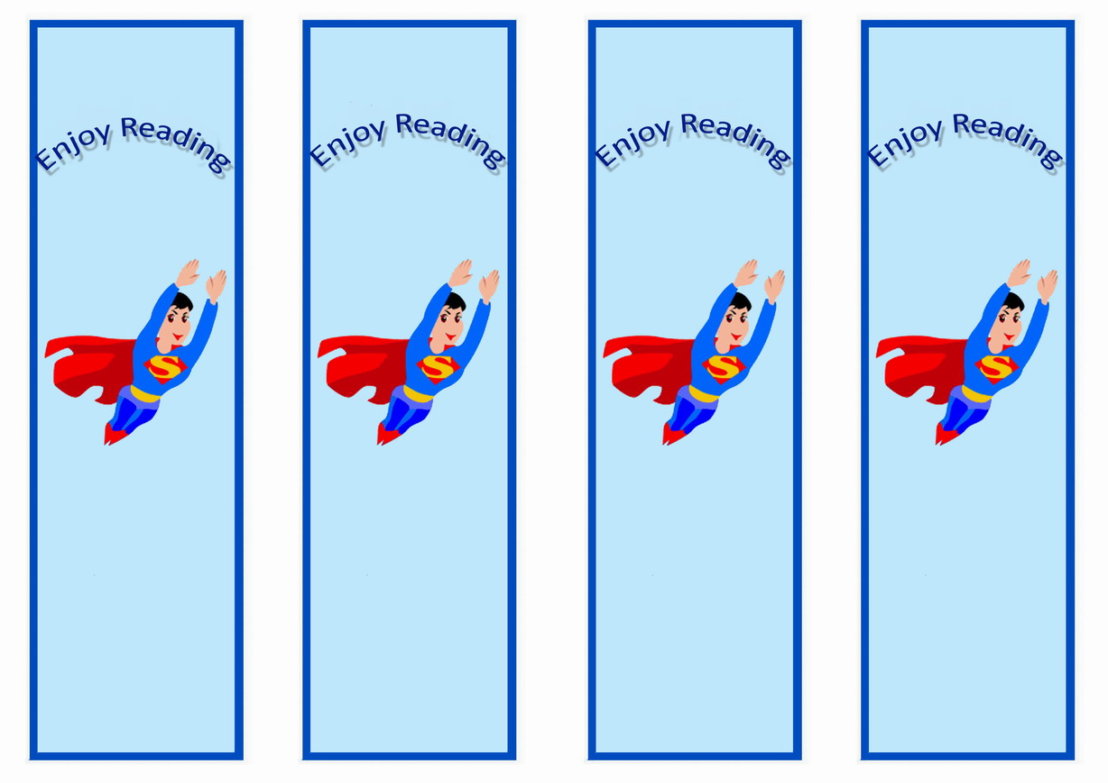 Superman Bookmarks Birthday Printable