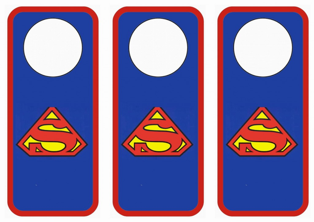 Superman Door Hangers Birthday Printable