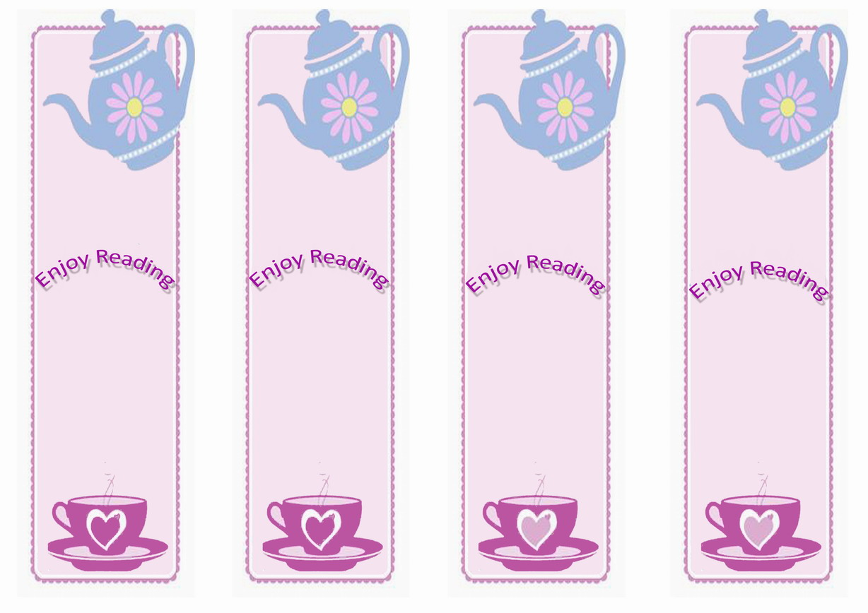 graphic about Tea Party Printable titled Tea Social gathering Bookmarks Birthday Printable