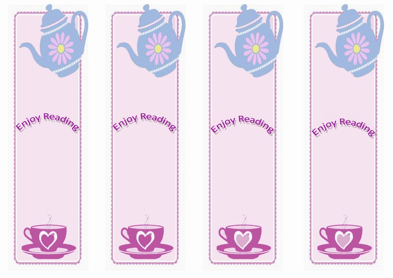picture relating to Tea Party Printable named Tea Celebration Bookmarks Birthday Printable
