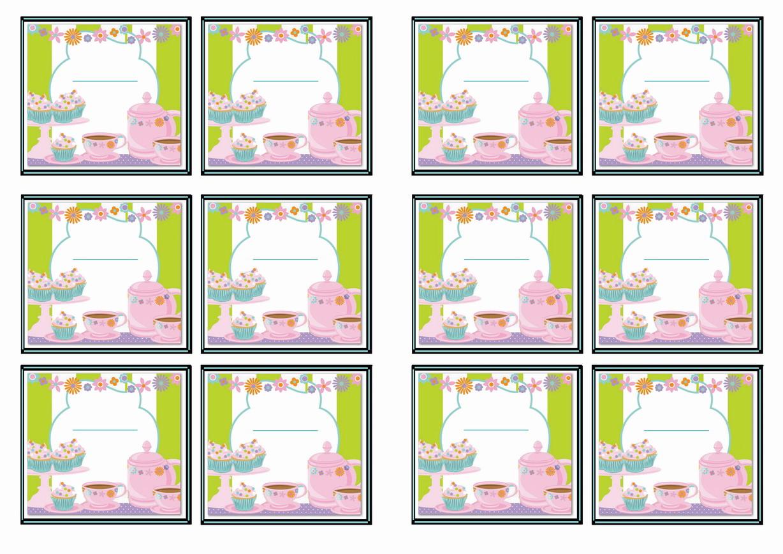 Tea Party Name Tags Birthday Printable