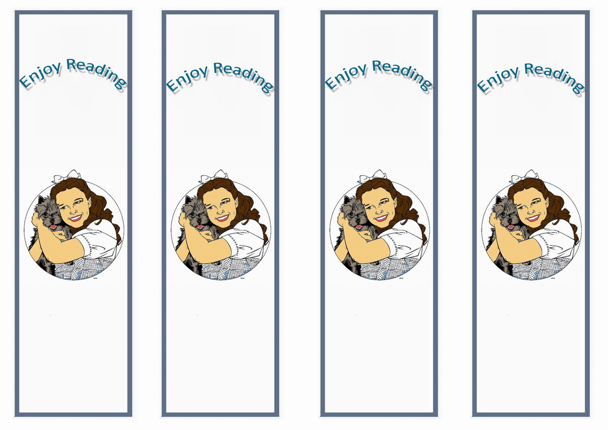 Wizard Of Oz Bookmarks Birthday Printable
