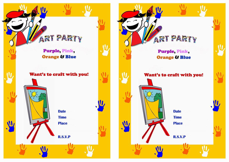Art & Craft Birthday Invitations – Birthday Printable