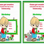 Art & Craft Birthday Invitations