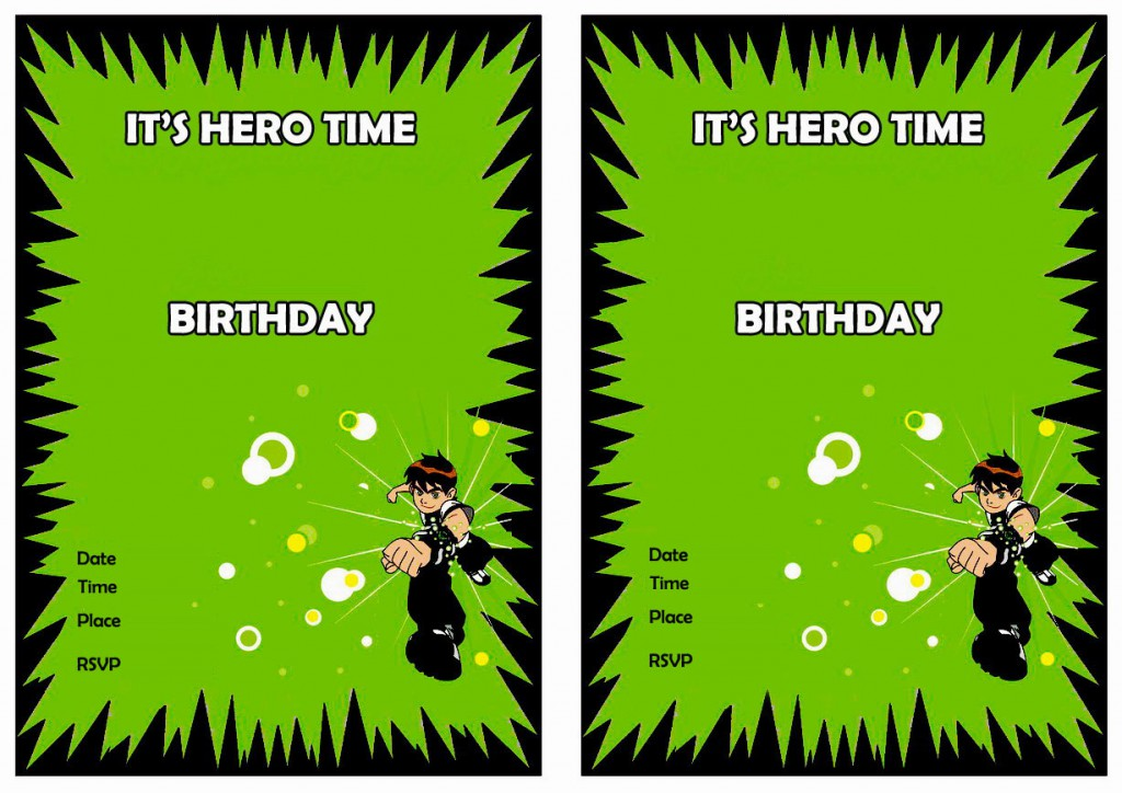 ben 10 birthday invitations  u2013 birthday printable