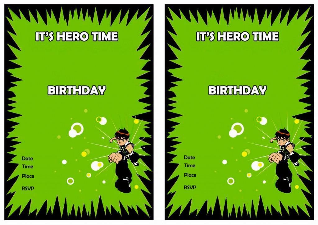 Ben 10 Birthday Invitations Birthday