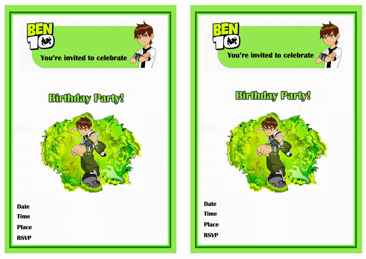 Ben 10 Birthday Invitations – Birthday Printable