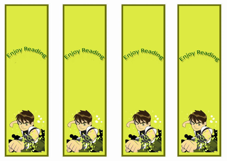 Ben 10 Bookmarks – Birthday Printable