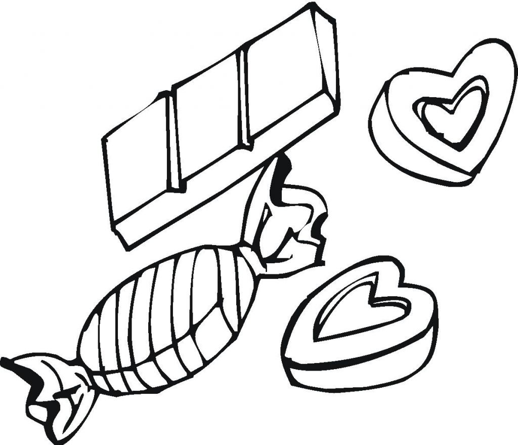 Coloring pages candy - Chocolate Candy Coloring Pages Ideas
