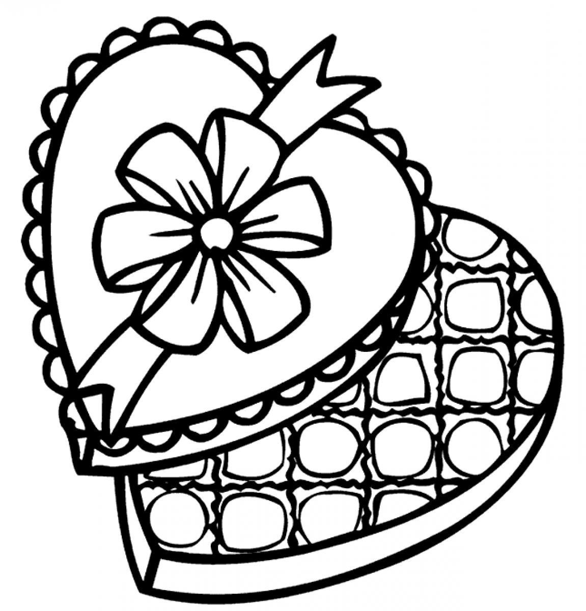 Chocolate Coloring Pages Birthday