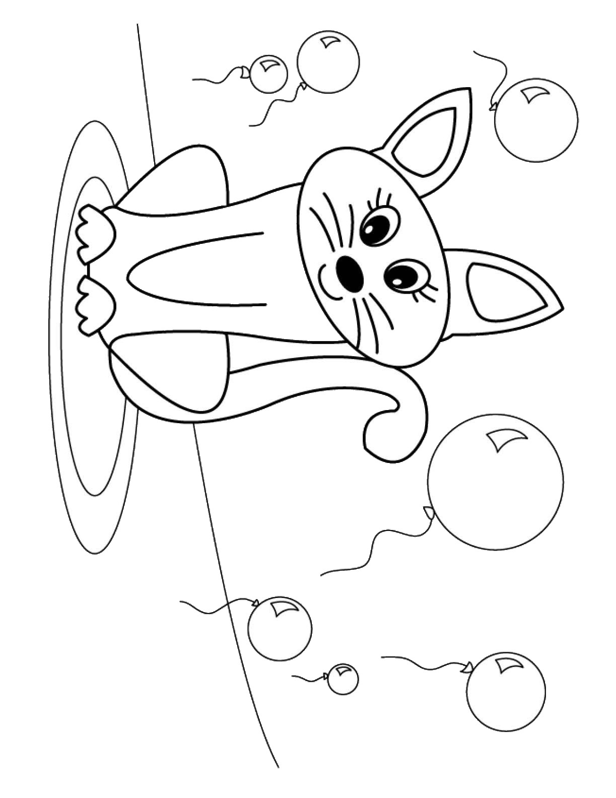 cat birthday coloring pages - photo#34