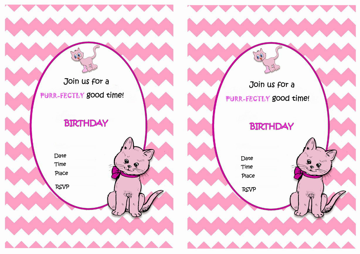 Cat Lovers Birthday Invitations