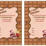 Chocolate Birthday Invitations