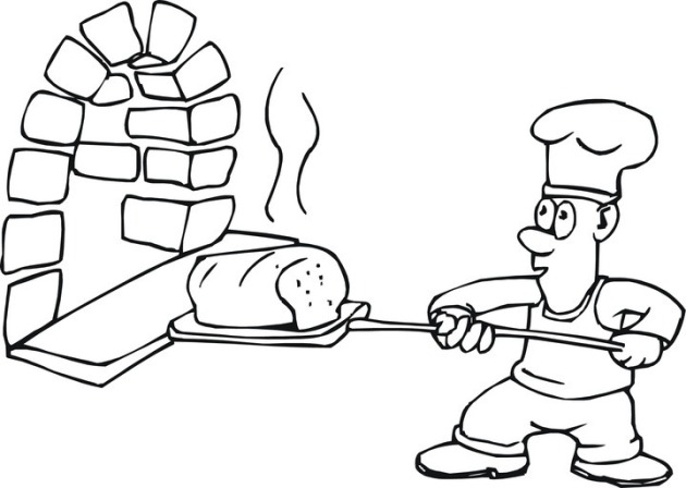 coloring pages of baking - photo#20