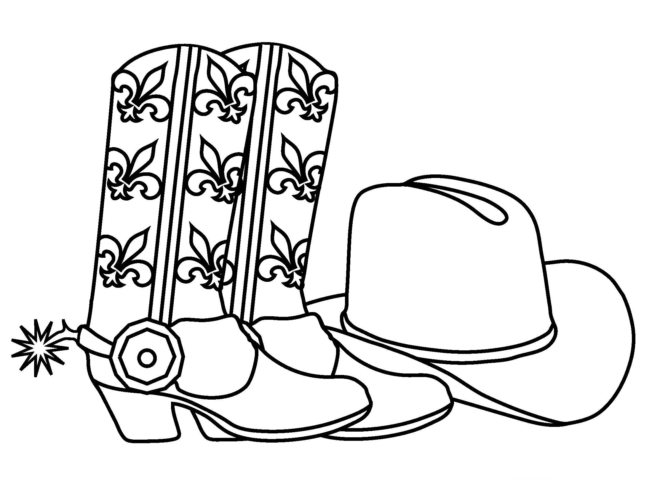 Cowboy Coloring Pages Birthday