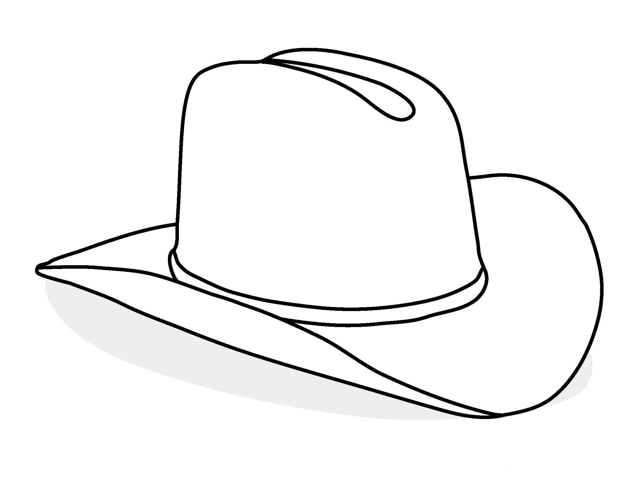 Картинка шляпа раскраска для детей