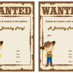 Cowboy Birthday Invitations