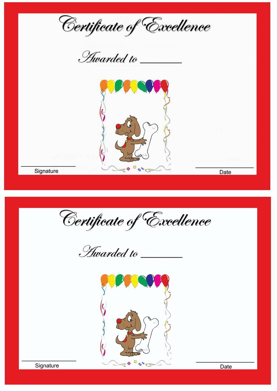 Dog Lovers Awards Birthday Printable