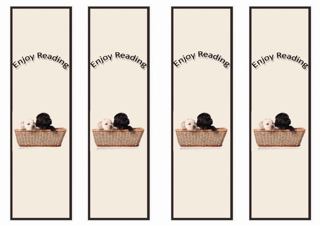 Dog Lovers Bookmarks Birthday Printable