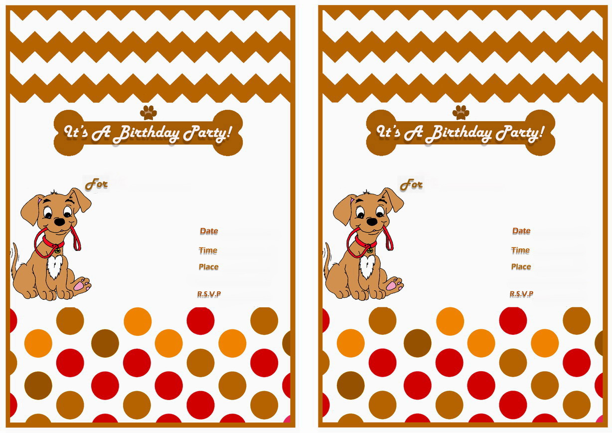 Dog Lovers Birthday Invitations – Birthday Printable