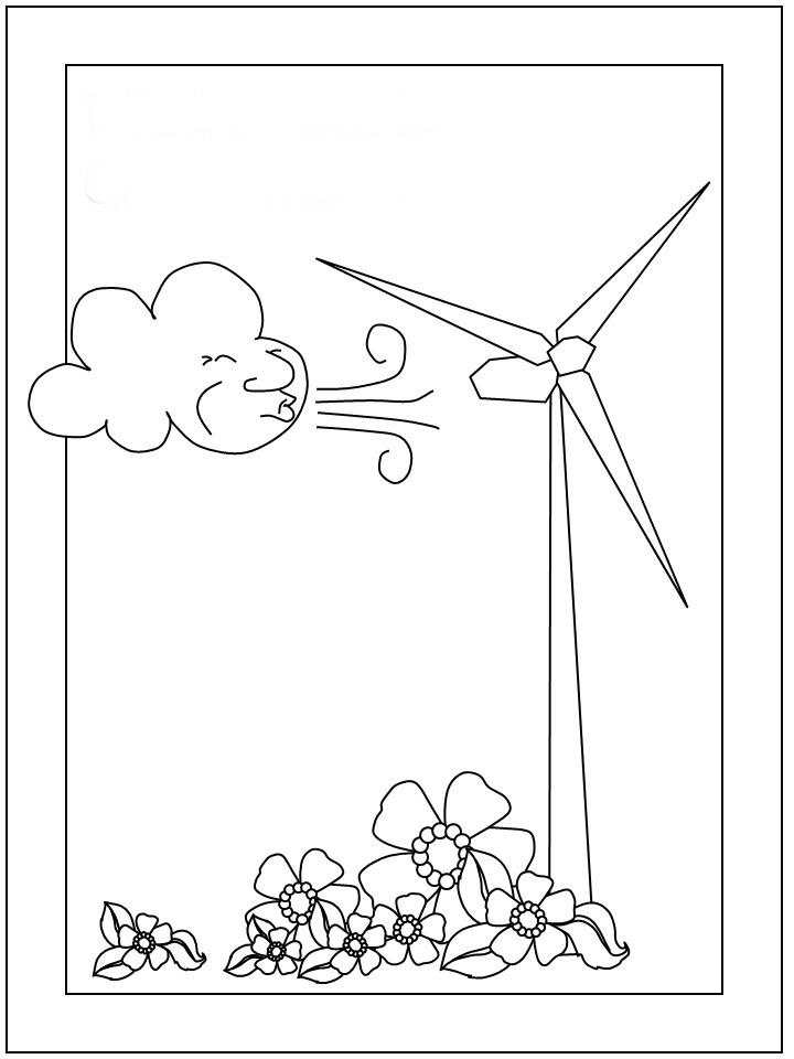 Eco Friendly Coloring Pages Birthday Printable