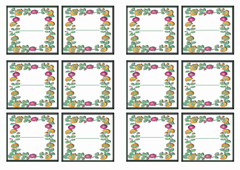 Garden Name Tags Birthday Printable