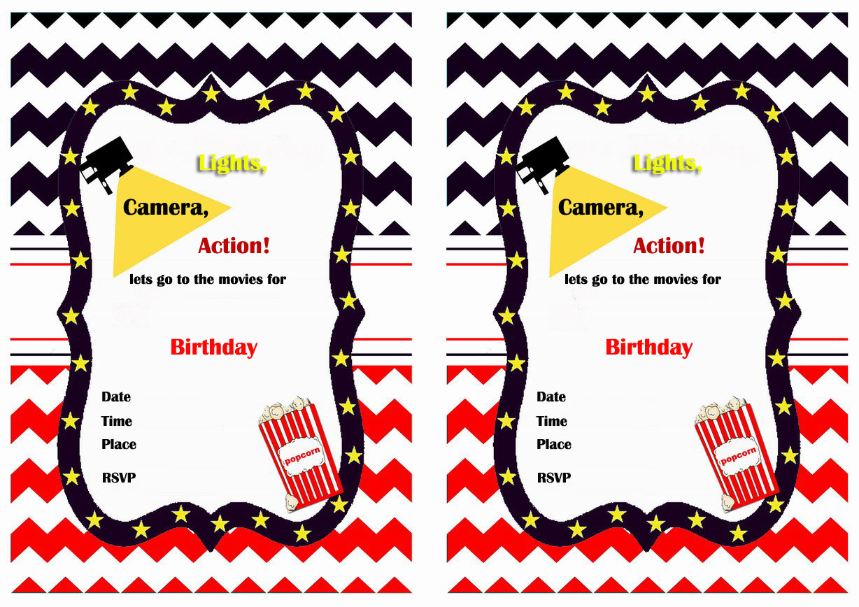1228 x 868 jpeg 307kB, Free Printable Movie Birthday Invitations | New ...