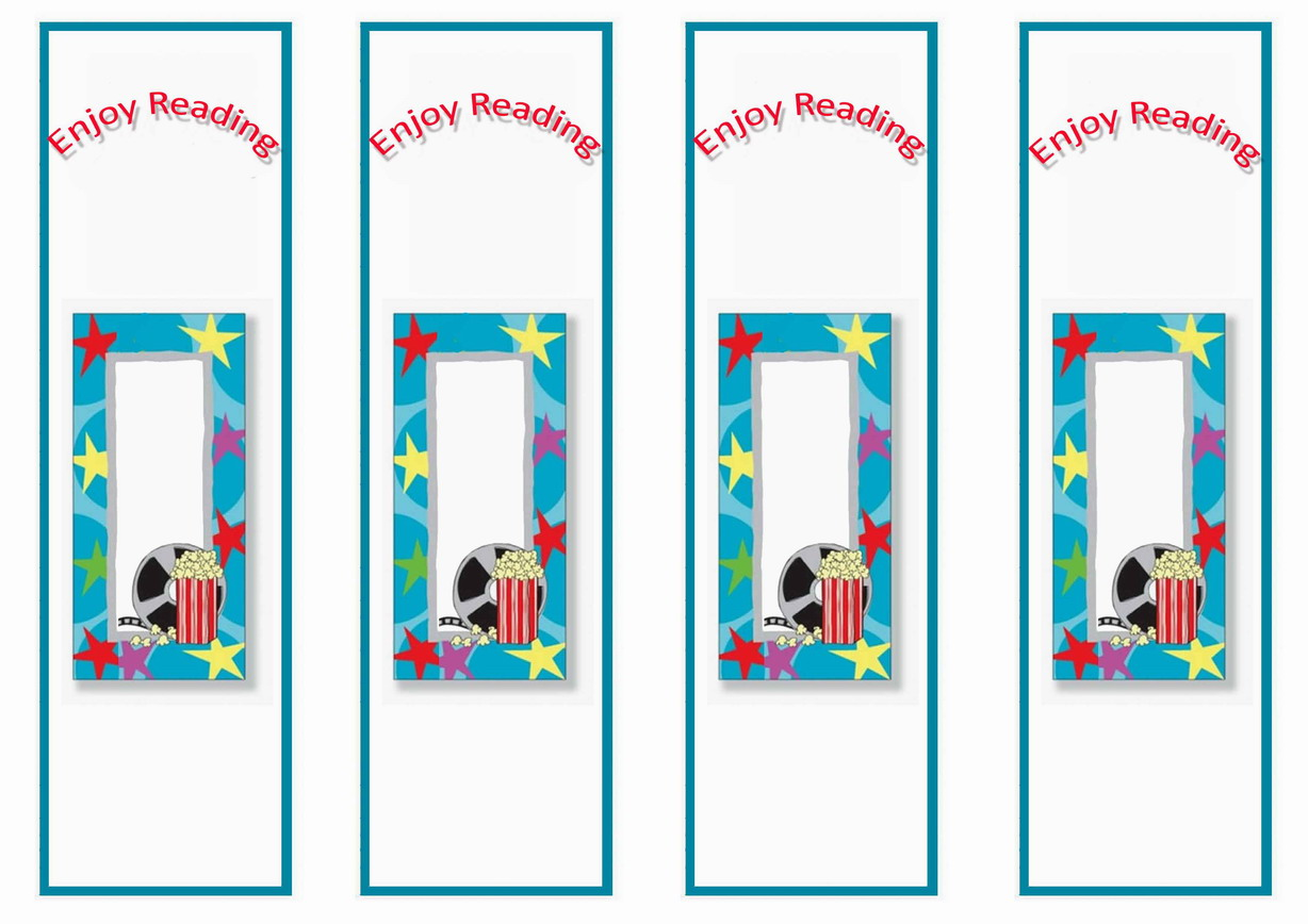 Movie Bookmarks Birthday Printable