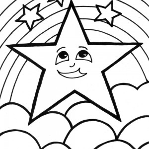 Rainbow Coloring Pages Birthday
