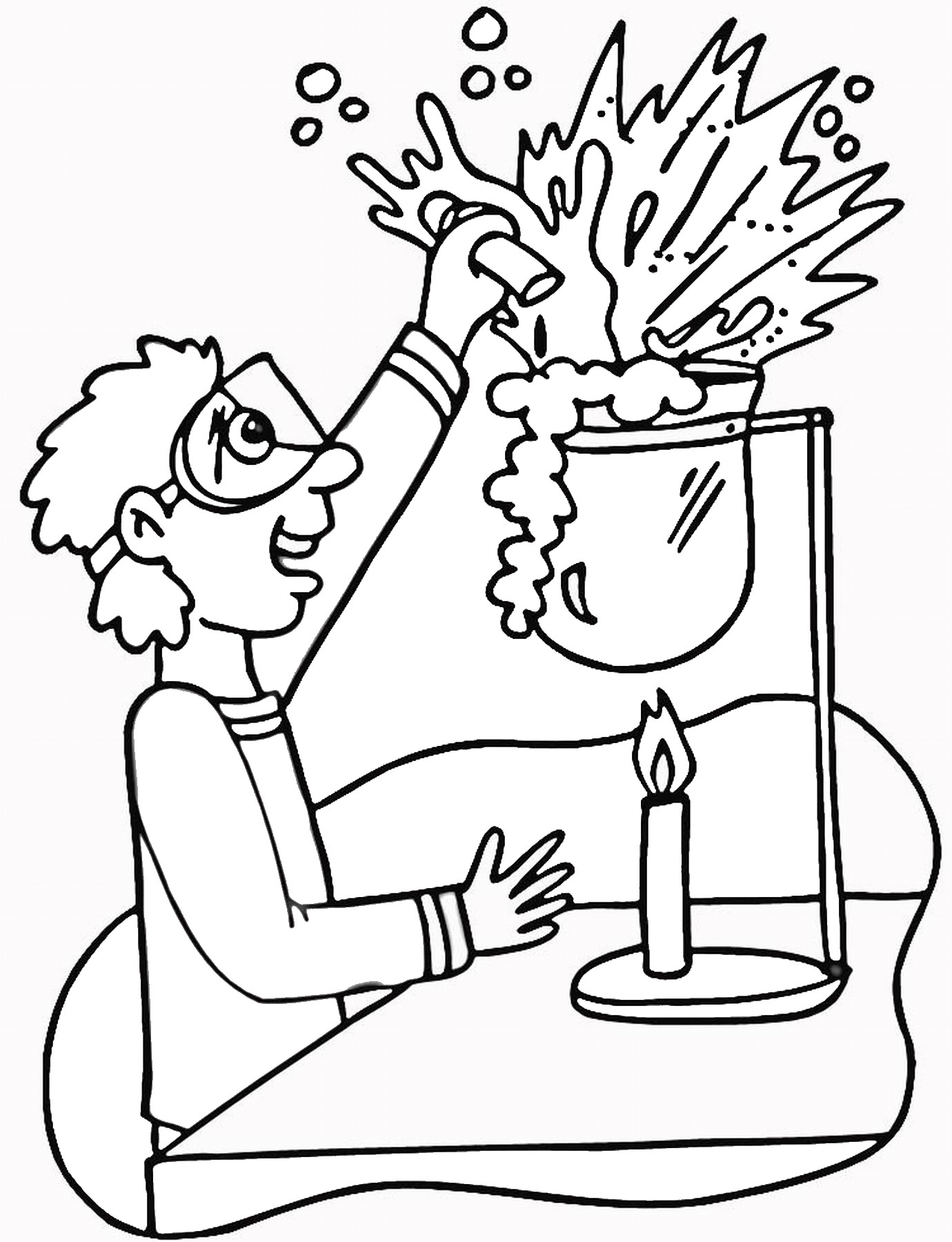 Science Coloring Pages Birthday