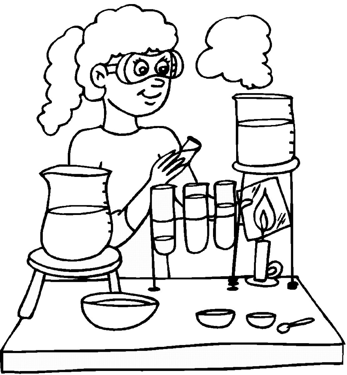 Science Coloring Pages Birthday Printable
