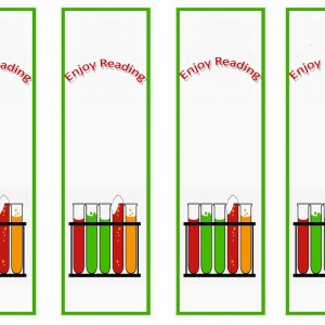 Science Bookmarks Birthday Printable