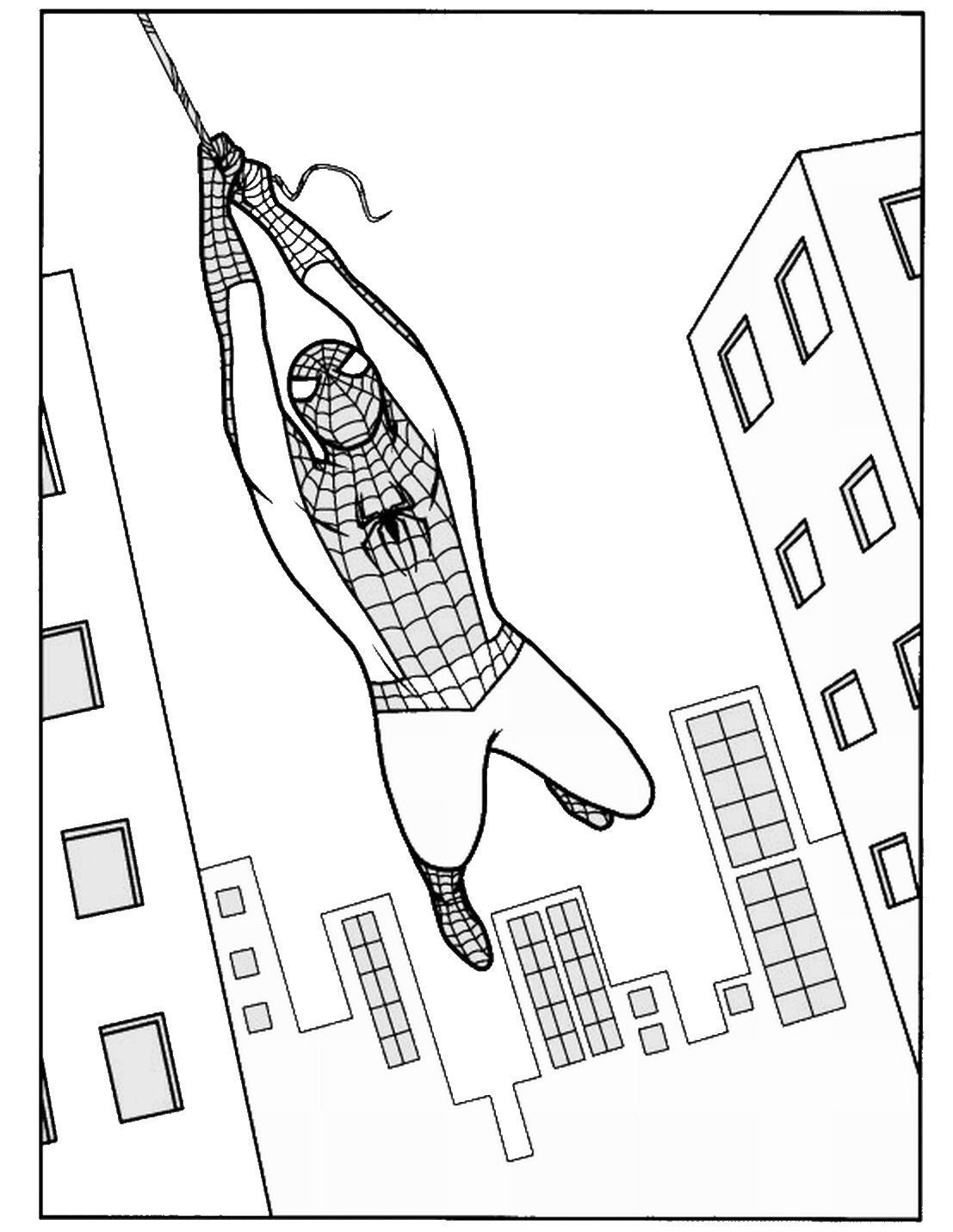Spiderman Coloring Pages Birthday