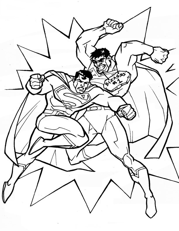 Superman Coloring Pages - Birthday Printable