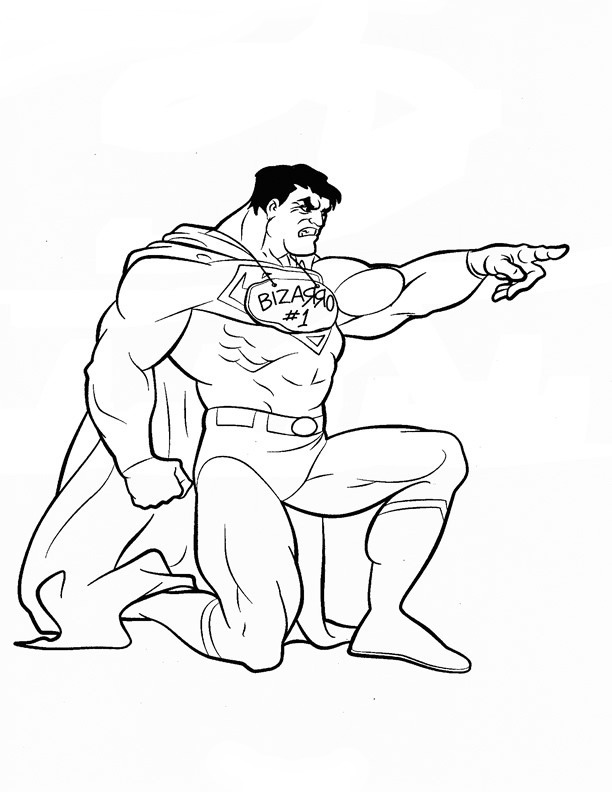 Superman Coloring Pages   Birthday Printable