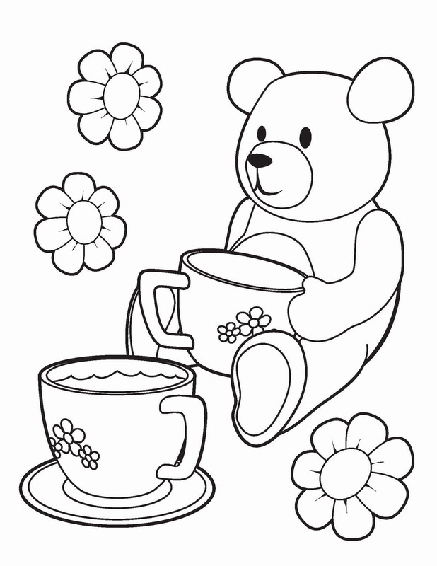 tea coloring pages - photo#18