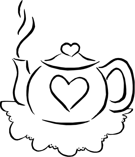 - Tea Party Coloring Pages – Birthday Printable