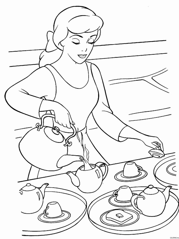 Tea Party Printable Coloring Pages. Save