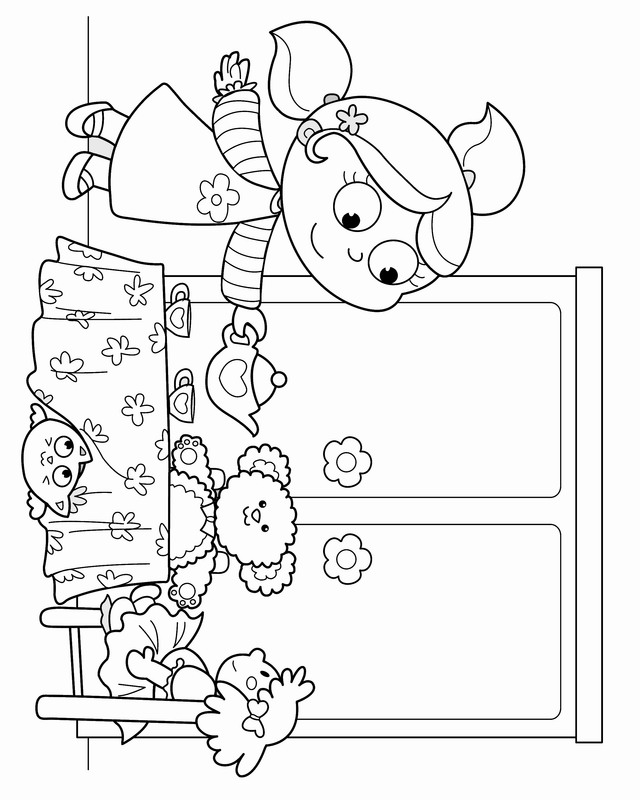 Tea Party Coloring Pages Birthday