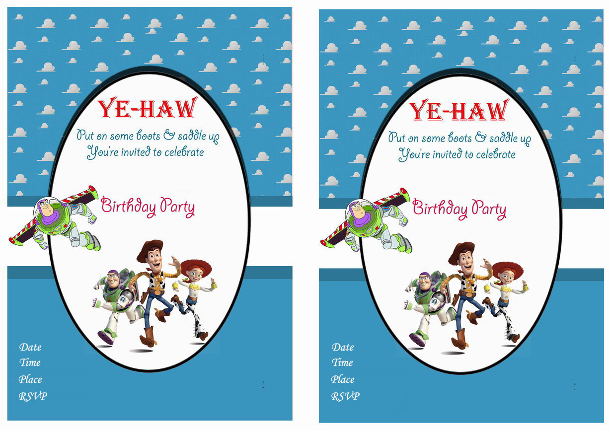 Toy Story Birthday Invitations Birthday Printable