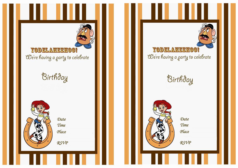 Toy Story Birthday Invitations – Birthday Printable