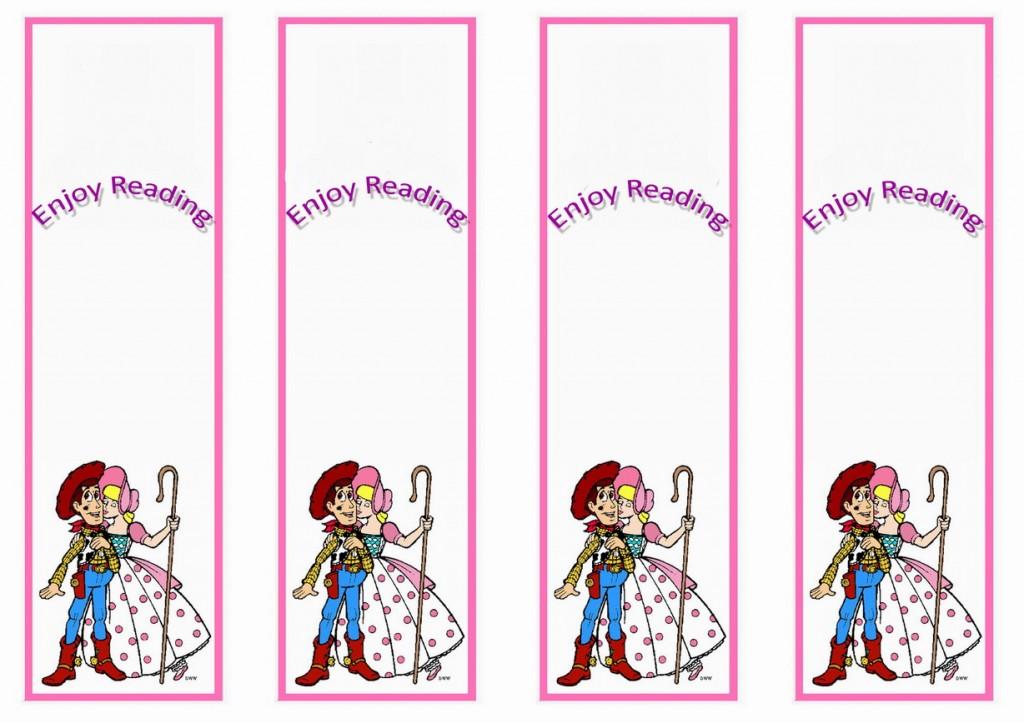 Toy Story Bookmarks Birthday Printable