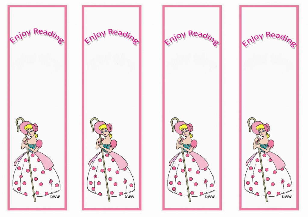 Toy Story Bookmarks Birthday Printable