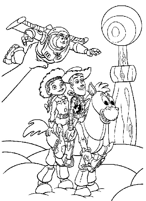 Toy Story Coloring Pages Birthday