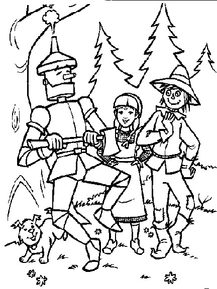 Wizard of Oz Coloring Pages Birthday