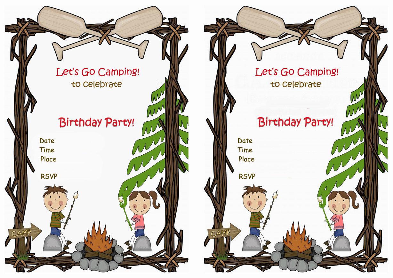 Camping Birthday Invitations – Birthday Printable